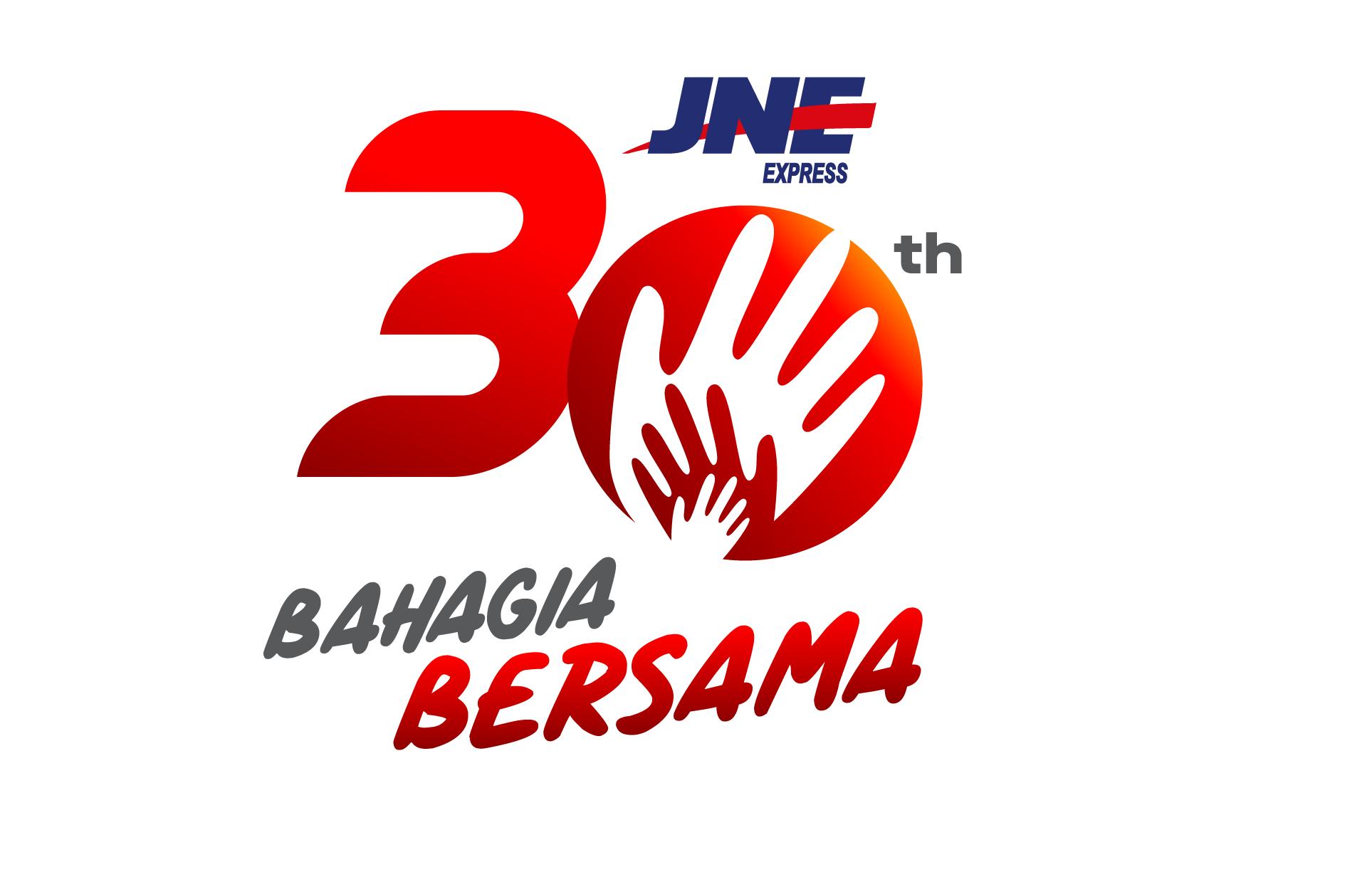 Logo HUT JNE Ke-30 Tahun yang penuh makna dan filosofi