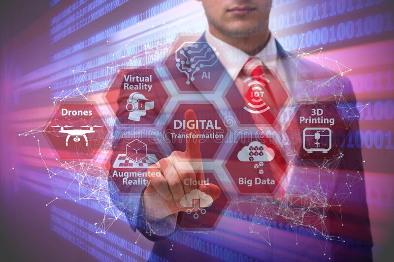 Ilustrasi transformasi digital