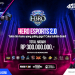 H3RO Esports Tournamen 2.0 dimana gamer berkompetisi memperebutkan uang tunai hingga ratusan juta rupiah.